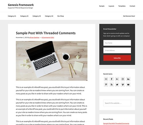 StudioPress - Genesis Framework v2.5.0 - WordPress Theme