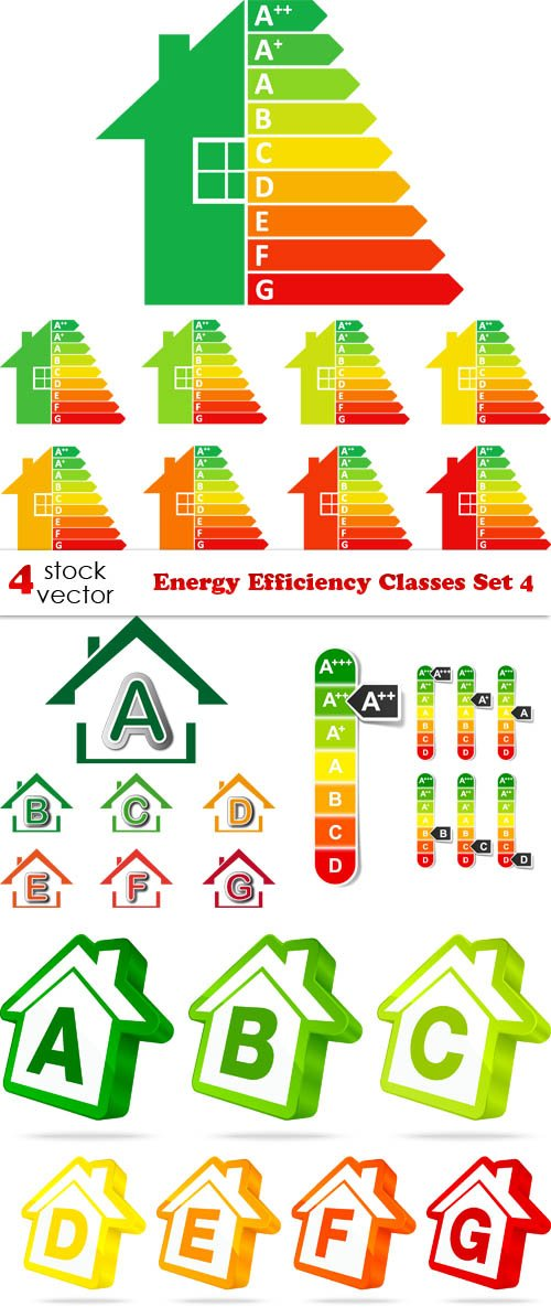 Vectors - Energy Efficiency Classes Set 4