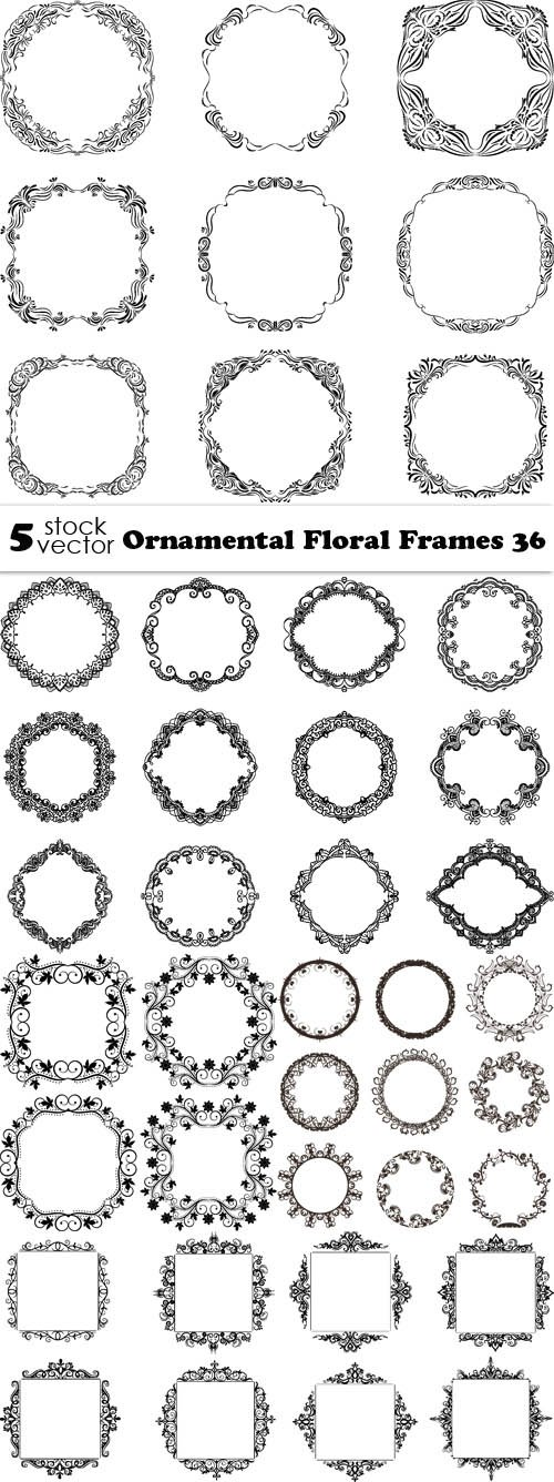 Vectors - Ornamental Floral Frames 36