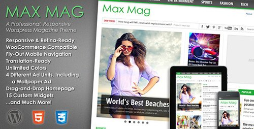 ThemeForest - Max Mag v2.8.0 - Responsive Wordpress Magazine Theme - 3103810