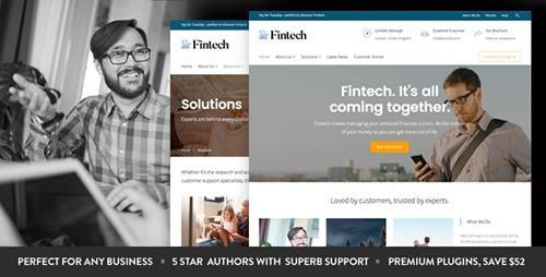 ThemeForest - Fintech v1.4.0 - Startup WordPress Theme - 15688266