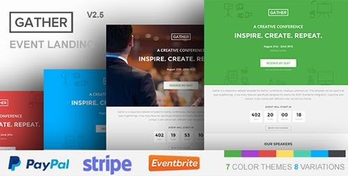 ThemeForest - Gather v2.5 - Event & Conference WP Landing Page Theme - 12799586