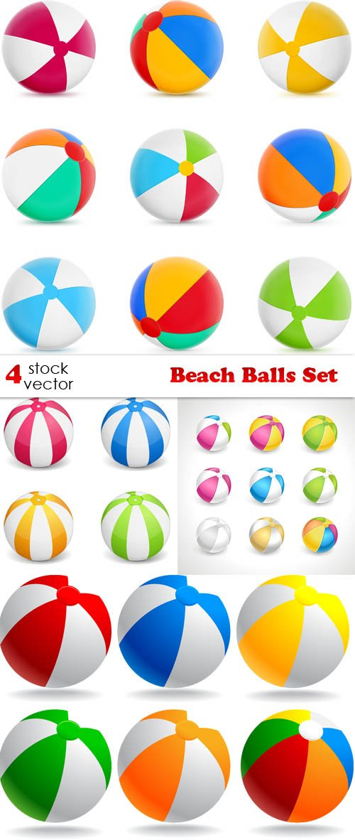 Vectors - Beach Balls Set