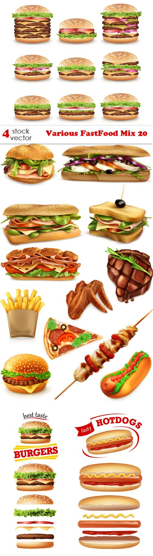 Vectors - Various FastFood Mix 20