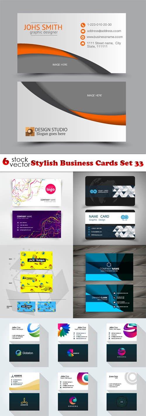 Vectors - Stylish Business Cards Set 33