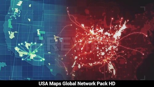 Pack USA Maps Network