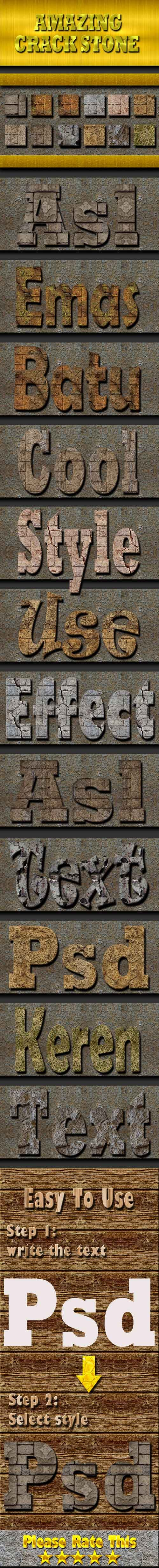 Cracked Stone Text Effect Style 19956728