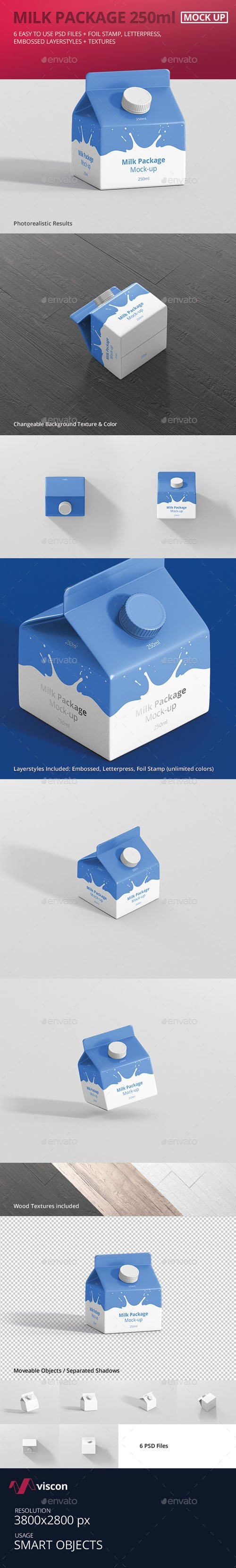 Juice / Milk Mockup - 250ml Carton Box 18191218