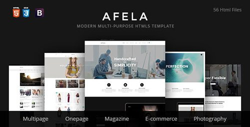ThemeForest - Afela v1.02 - Flexible Multi-Purpose HTML5 Template - 14581951