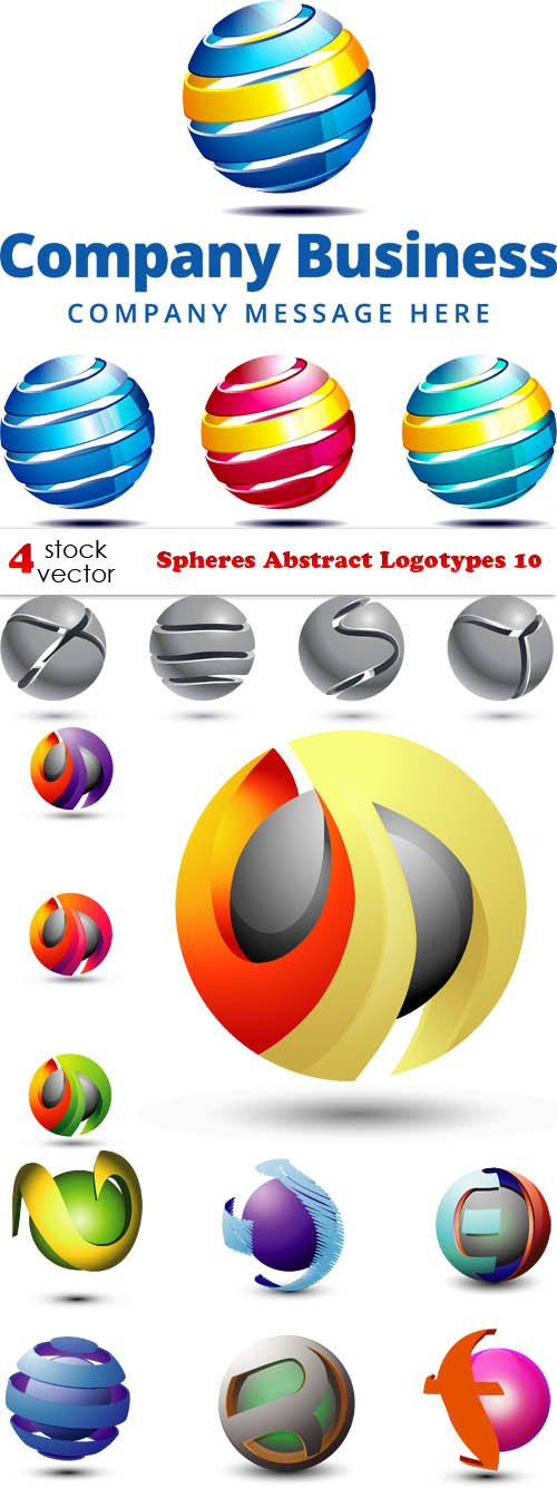 Vectors - Spheres Abstract Logotypes 10