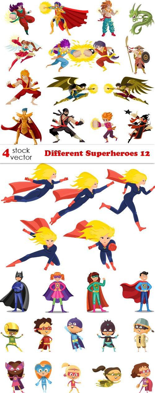 Vectors - Different Superheroes 12
