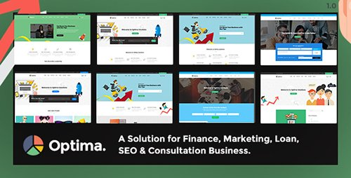 ThemeForest - Optima v1.0 - Multiple solutions for Finance, Marketing, Loan, SEO & Consultation Business, PSD Template - 19518929