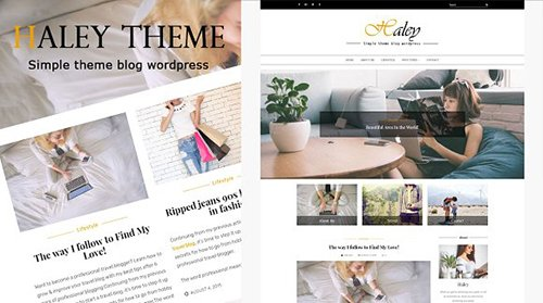 Haleytheme v1.5 - Simple Blog Wordpress - CM 1498148