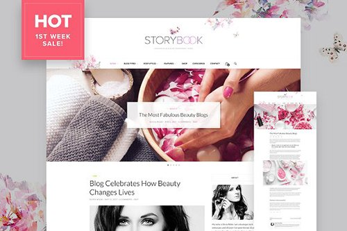Storybook v1.0 - Modern Blog & Shop Theme - CM 1504770