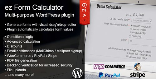 CodeCanyon - ez Form Calculator v2.9.8.3 - WordPress plugin - 7595334