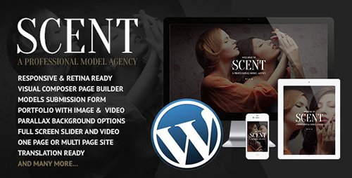 ThemeForest - Scent v3.2.6 - Model Agency WordPress Theme - 7868093
