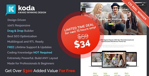 ThemeForest - Koda v1.5.3 - Creative Multi-Purpose Theme for Beginners and Professionals - 16855014