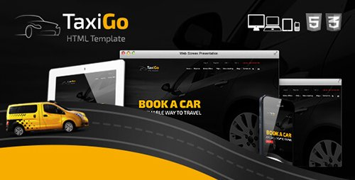 ThemeForest - TaxiGo v1.0 - Taxi Company & Cab Service Website Template - 14960181