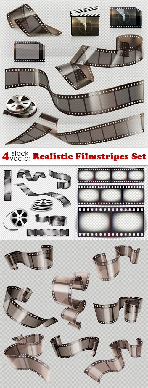 Vectors - Realistic Filmstripes Set