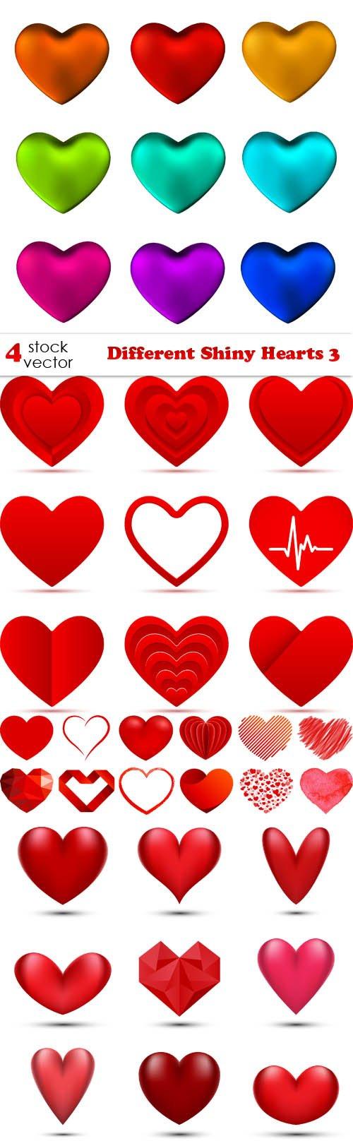 Vectors - Different Shiny Hearts 3