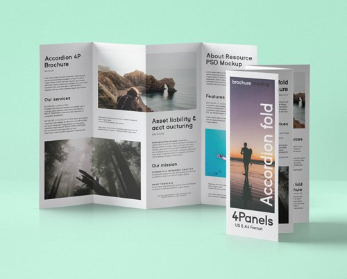 Accordion Fold Mockup US A4