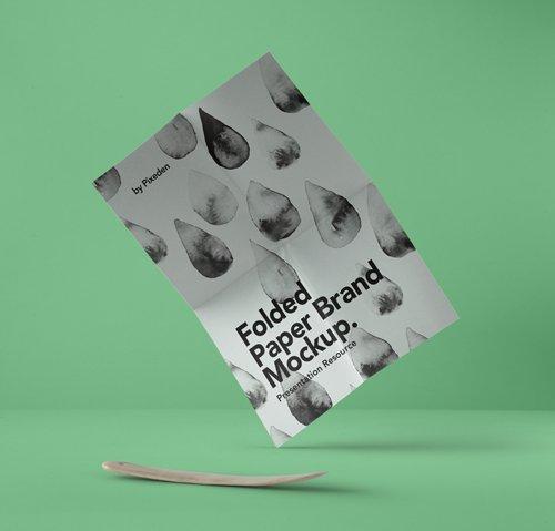 Folded Paper Brand Mockup