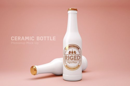 Ceramic bottle Mock-Up