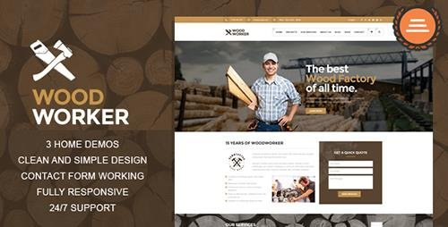 ThemeForest - WoodWorker - Carpentry HTML Theme (Update: 16 March 16) - 14263787