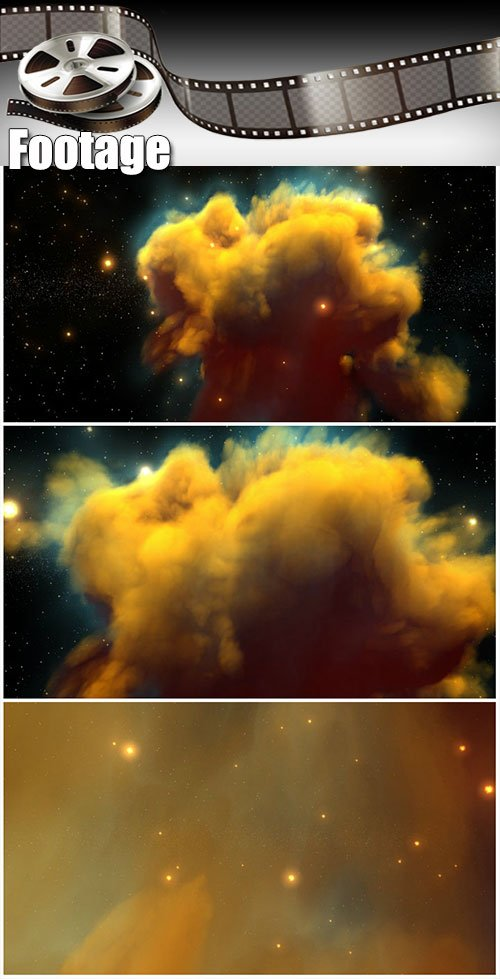 Video footage Space travel through Nebula and stars