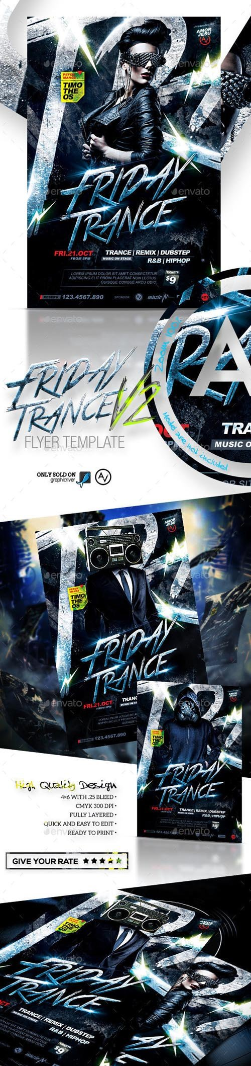 Friday Trance Flyer Template V2 11863774