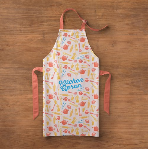 Kitchen Apron Mockup Template