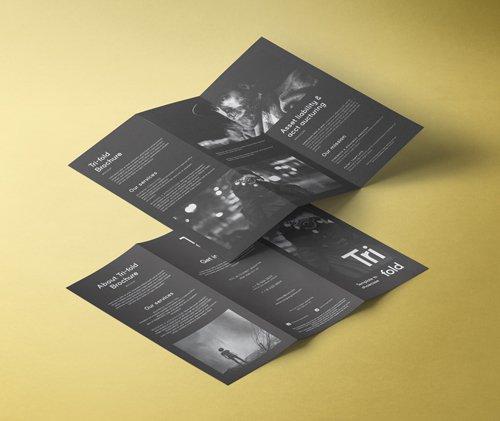 Tri Fold Mockup US A4 Vol 2