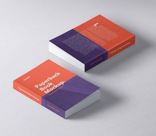 Paperback Book Mockup Vol 5