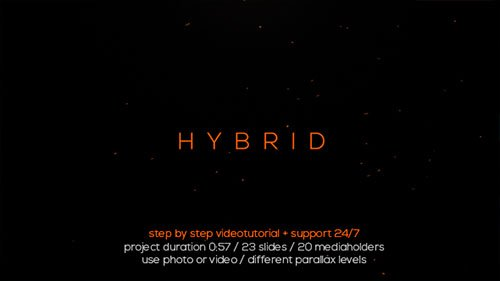 Hybrid Typo Opener - Project for After Effects (Videohive)