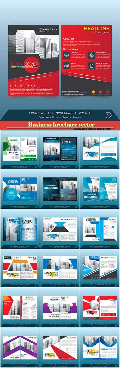 Business brochure vector, flyers templates #17