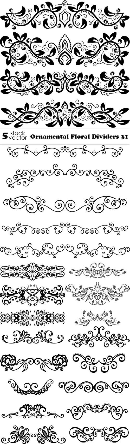 Vectors - Ornamental Floral Dividers 31