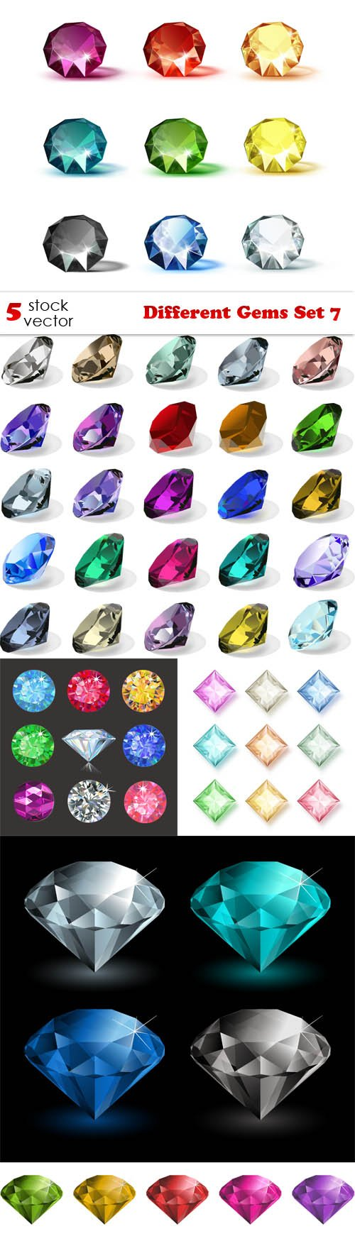 Vectors - Different Gems Set 7