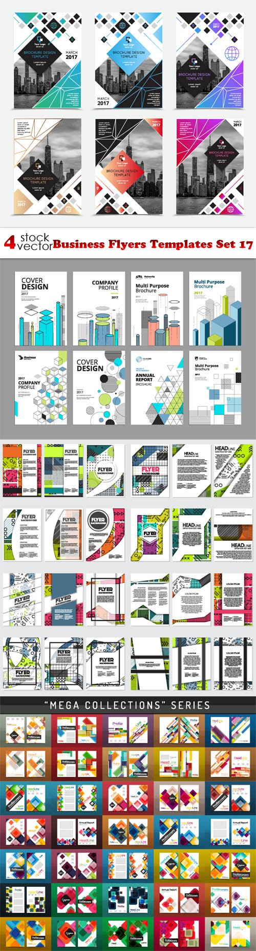 Vectors - Business Flyers Templates Set 17