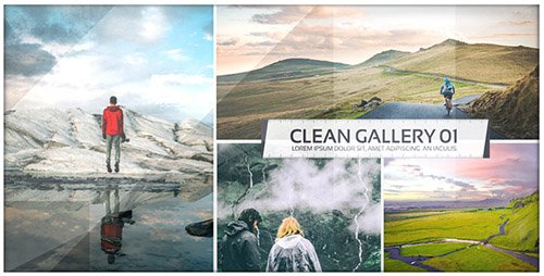 Clean Photo Gallery - Image Slide Opener - Project for After Effects (Videohive)