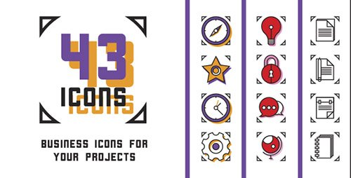 43 Animated Business Icons - Project for After Effects (Videohive)