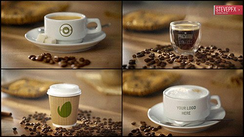 Coffee AE Mockup | Espresso Americano Cappuccino Coffee to Go - Project for After Effects (Videohive...