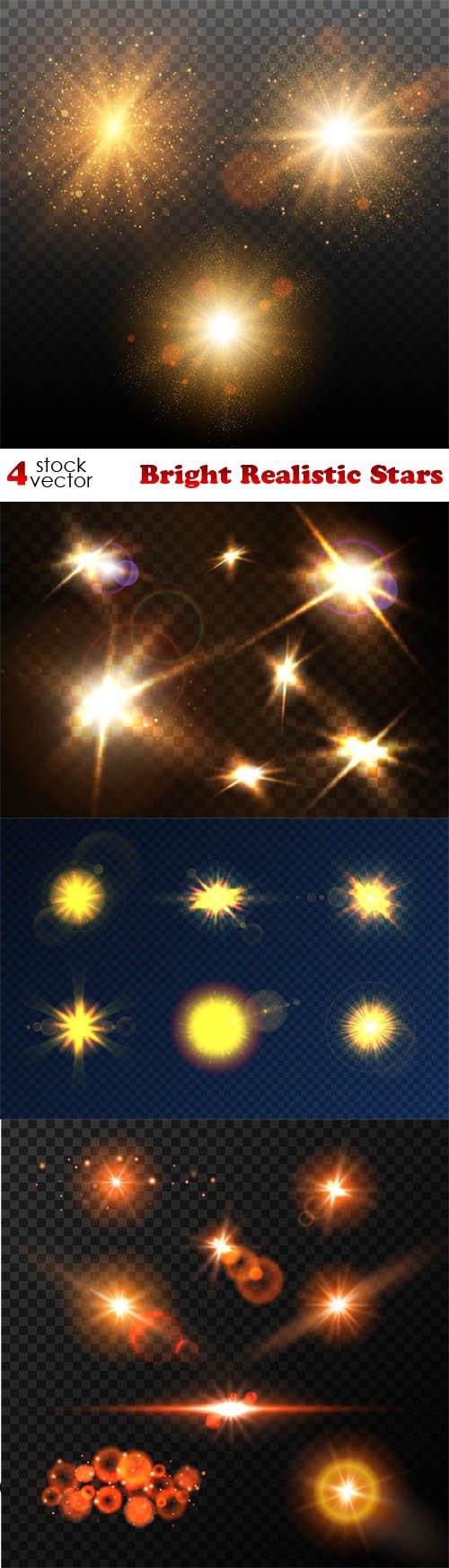 Vectors - Bright Realistic Stars