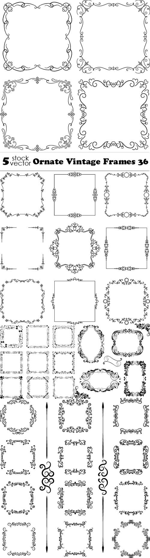 Vectors - Ornate Vintage Frames 36