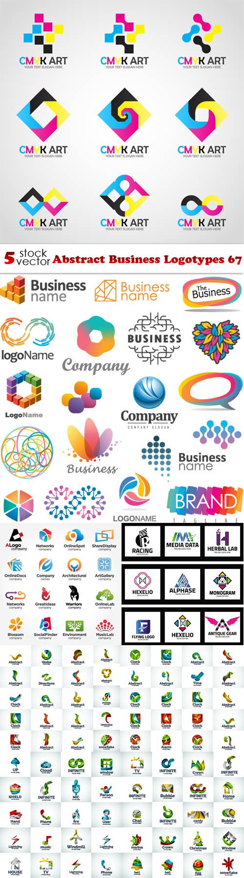 Vectors - Abstract Business Logotypes 67