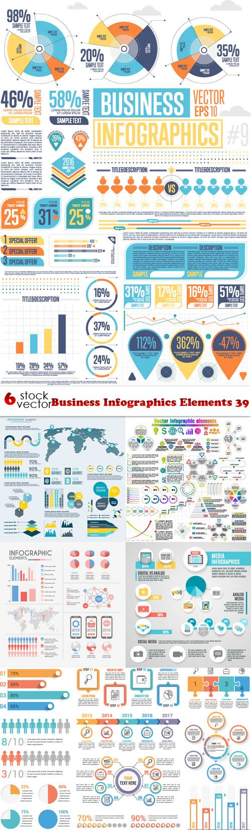 Vectors - Business Infographics Elements 39