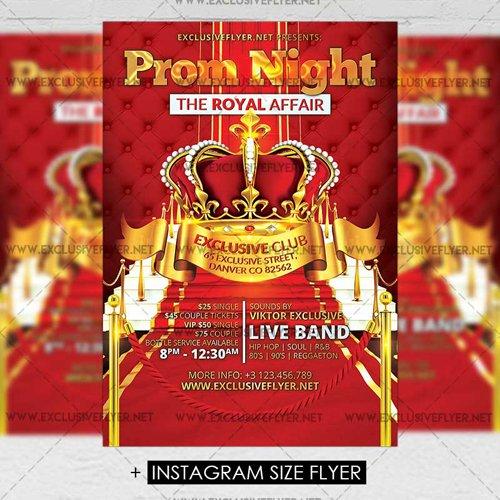 Premium A5 Flyer Template Prom Night Party 187 Nitrogfx