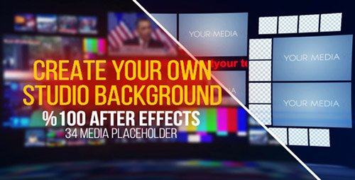 TV Studio Background - Project for After Effects (Videohive)