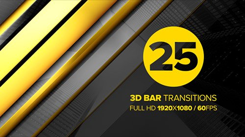 3D Bar Transitions - Motion Graphics + ae (Videohive)