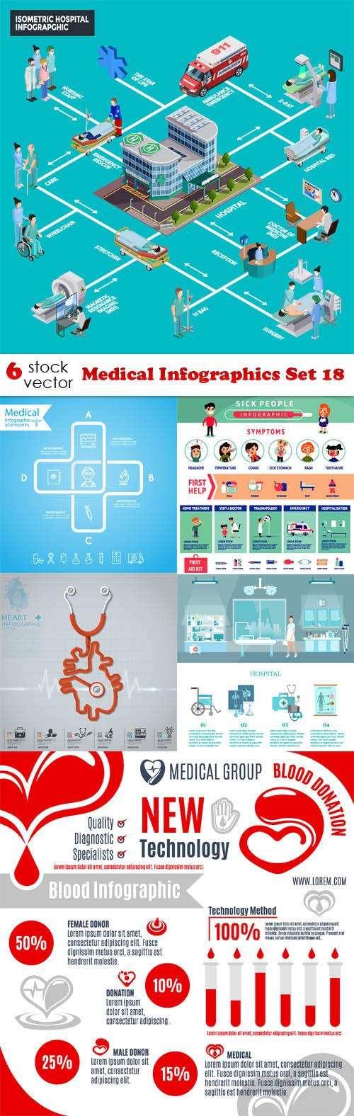 Vectors - Medical Infographics Set 18
