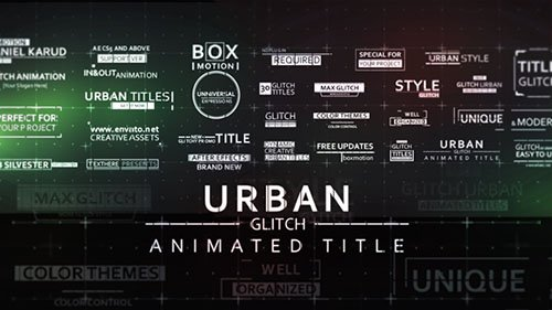 30 Fast Glitch Urban Titles - Project for After Effects (Videohive)